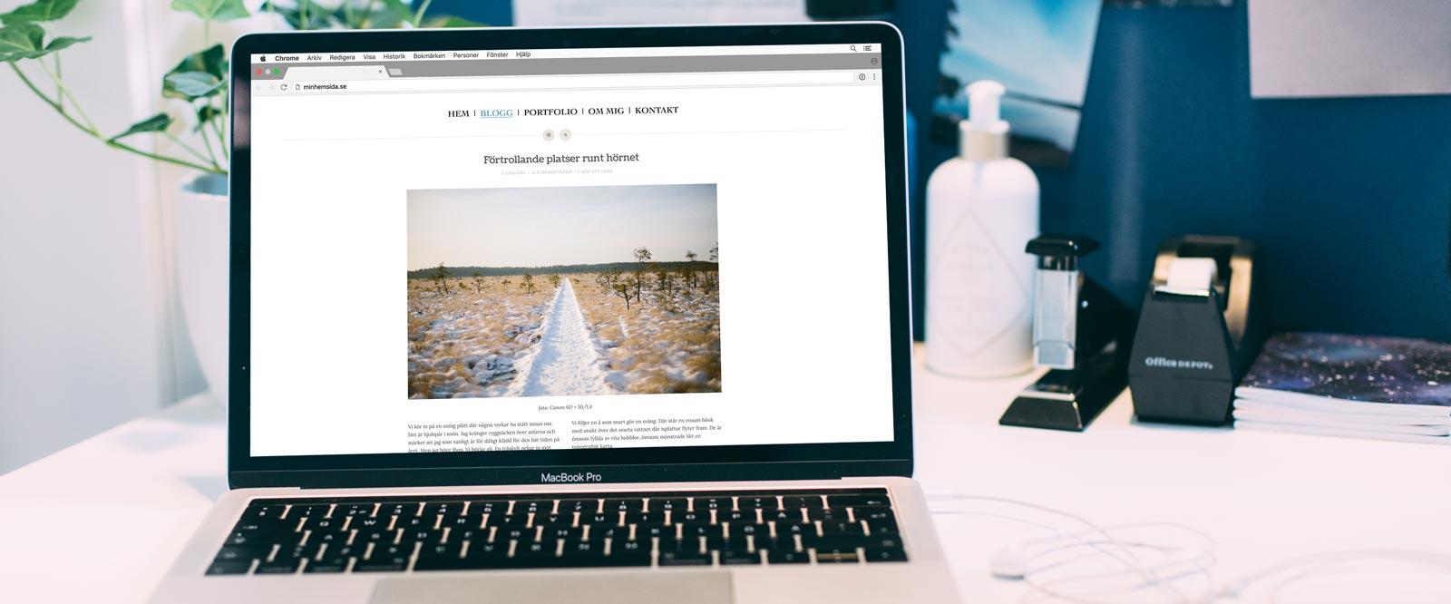 Onlinekurs Egen webbplats med WordPress