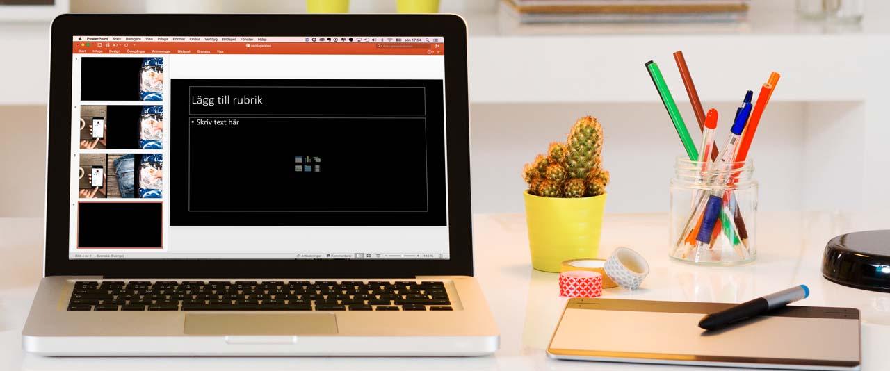 Onlinekurs Kom igång att skapa visuella presentationer