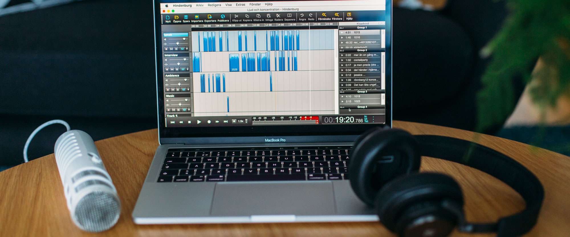 Onlinekurs Redigera din podcast i Hindenburg