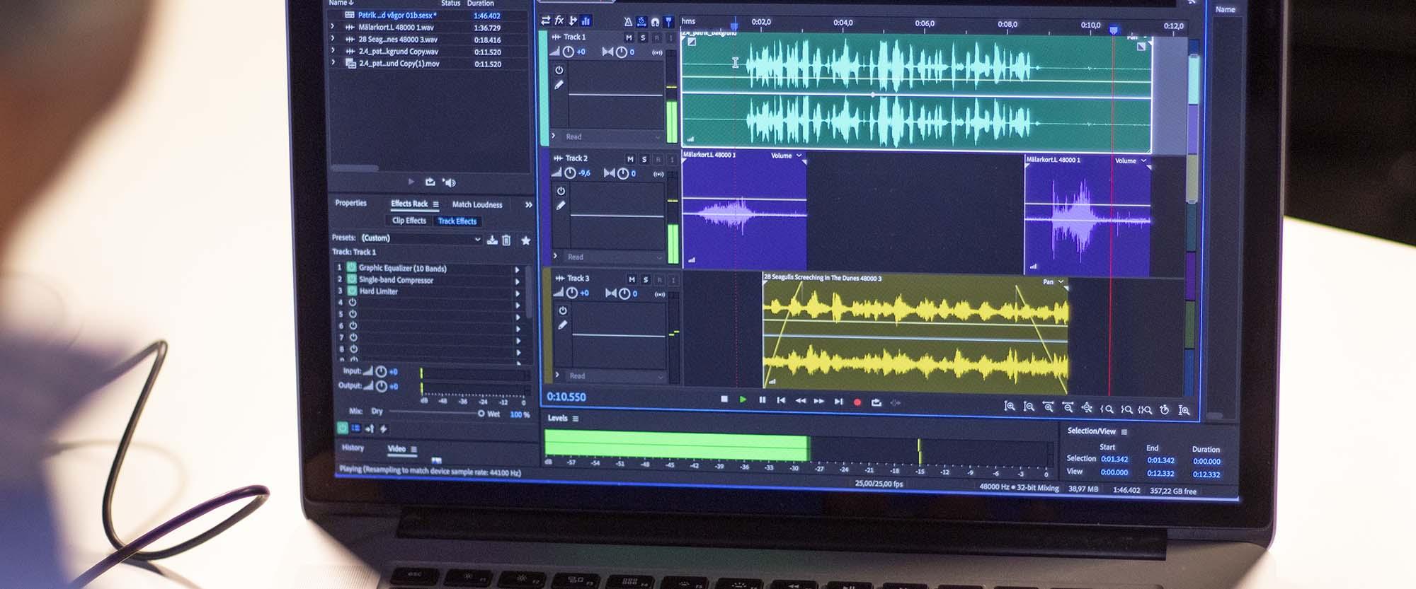 Onlinekurs Ljudredigering med Adobe Audition