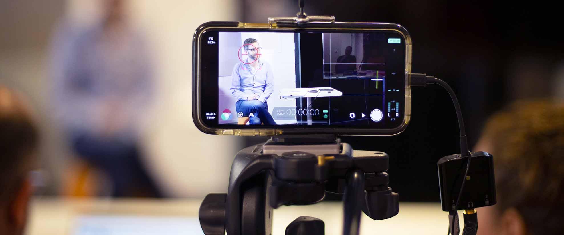 Onlinekurs Filma föredrag med mobilkameran