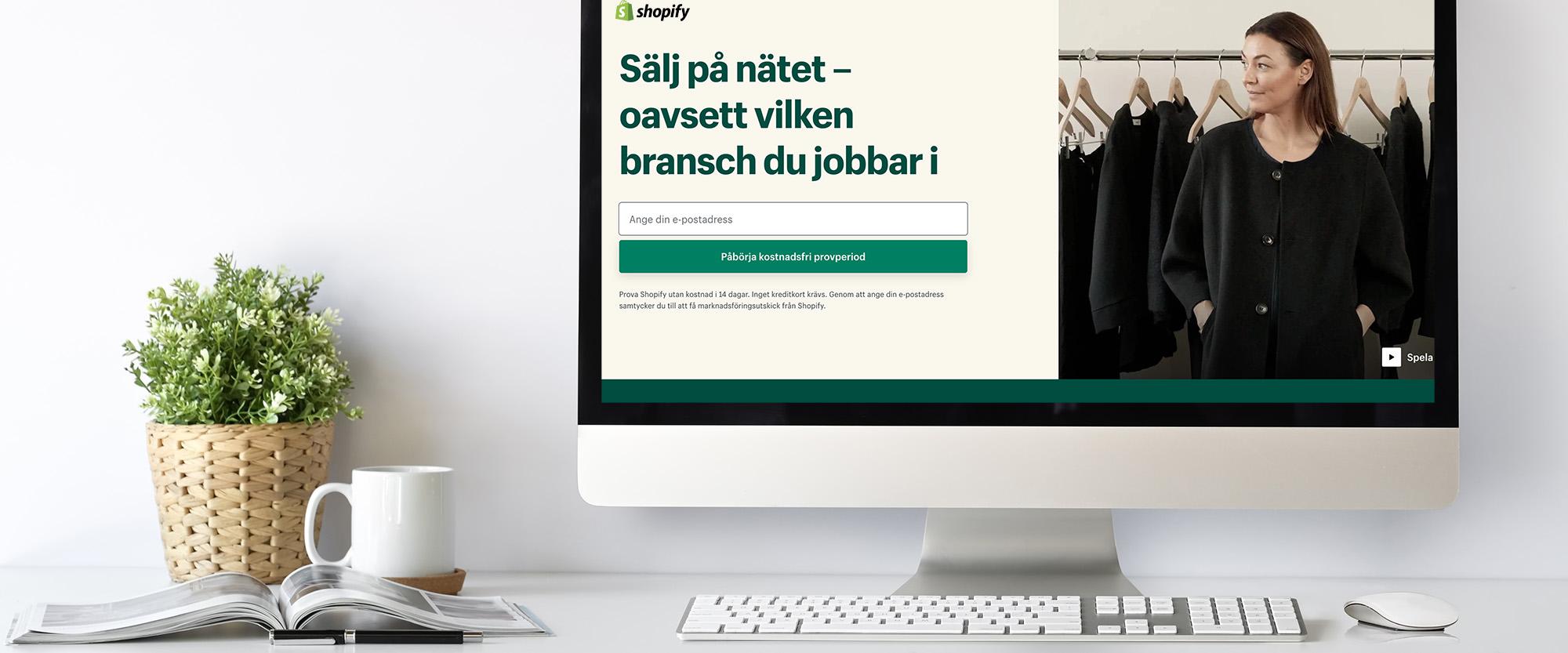 Onlinekurs Webbutik med Shopify