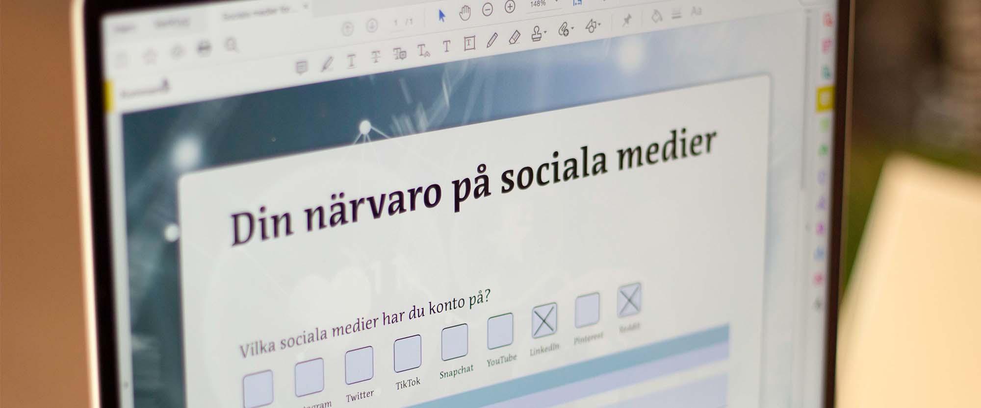 Onlinekurs Skapa formulär med Acrobat Pro